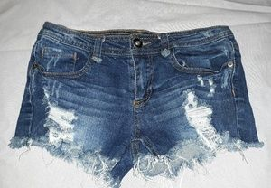 Empyre Distressed Blue Jean Shorts